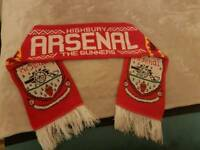 Arsenal scarf, HIGHBURY vintage scarf.