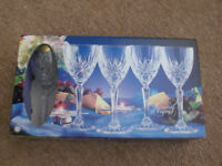 Crystal Wine Glasses £10 ono (box of 4), more boxes available