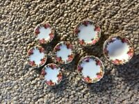 Dolls' House Porcelain Plate/Bowl Set