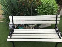 Antique cast iron and wood bench