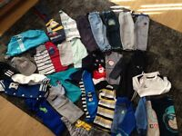 Boys clothes and shoe bundle age 2/3 years shoe size 8 including adidas worn but plenty wear left