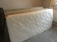 Single Divan Bed. Matteress and Headboard
