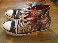 Size 6 Superman converse boots