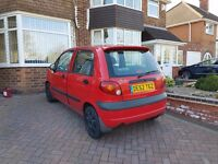 Daewoo matiz 0.9 low mileage
