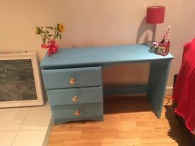 Beautiful Blue Wooden Dressing Table