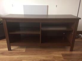 Dark wood IKEA TV unit / cabinet