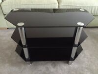 Glass TV stand for sale - great condition-excellent price