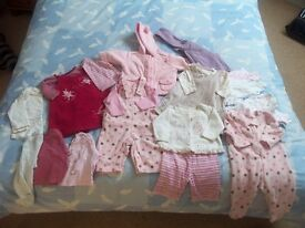 Bundle of 0-3 month baby girls winter clothes - ideal for Oct/Nov baby
