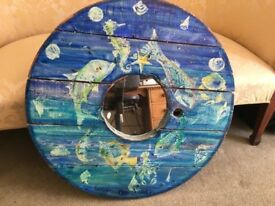 Hand painted sea life Mirror
