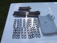 30 Camping grass tent or awning pegs and 20 ladder fixings