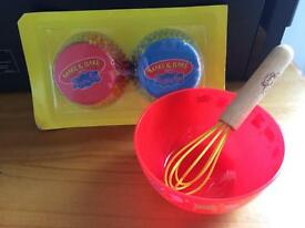 Make and bake with peppa pig bowl whisk and cupcake bases