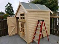 Kids log play house with or without upstairs ***cheap***
