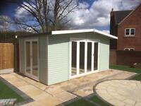 16ft by 10ft double glazed Bi-folding doors home office, summer house, garden room, work shop