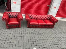 Chesterfield Sofa with armchair