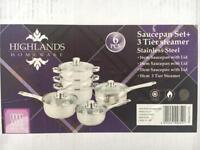 Brand new 6pc stainless cookware