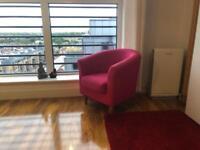 Enchanting Pink Miniature Sofa Chair