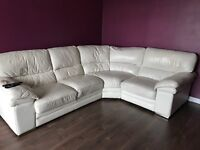 Large corner sofa, electric armchair and pouffe £390 or nearest sensible offer