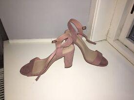 Pink wedge heel sandal new look