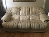 3 piece suite cream sofa- £65