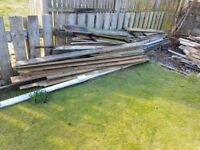 Various lengths of wood free for pick up