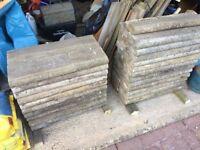 45 x Garden Edging Concrete Strips For Dividing Lawn & Flower Beds Etc 600mm x 155mm x50mm