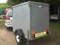 VERY RARE FULLY GALVANISED STEEL 5X3X4 BOX TRAILER WITH RAMP-TAIL..