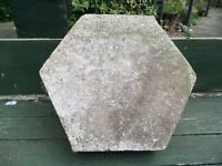approx. 12 six sided 300mm paving slabs