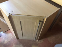 Assorted Kitchen Units with Brushed Steel Handles