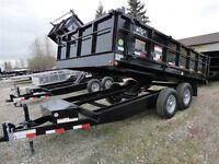 2015 Snake River SN 8X14 DUMP 14K DROP DOWN SIDES WITH RAMP