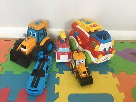 5 vehicles