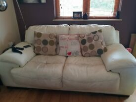 Chocolate Brown 3 seater cream 2 sester