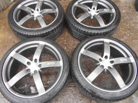"""19"""" ZITO ALLOY WHEELS / TYRES - 5 X 108 - FORD FOCUS / MONDEO / CONNECT ETC"""