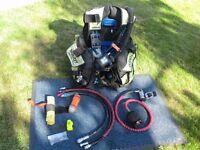 Buoyancy jacket, BCD, AP Valves with AutoAir Cylinder Regulator APEKS T50 SMB Diving equipment