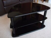 TV Unit, High Quality Polished Wood and Glass.