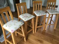 Kitchen bar stools in light oak for sale  Burton-on-Trent, Staffordshire