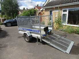 Two wheel high sided trailer