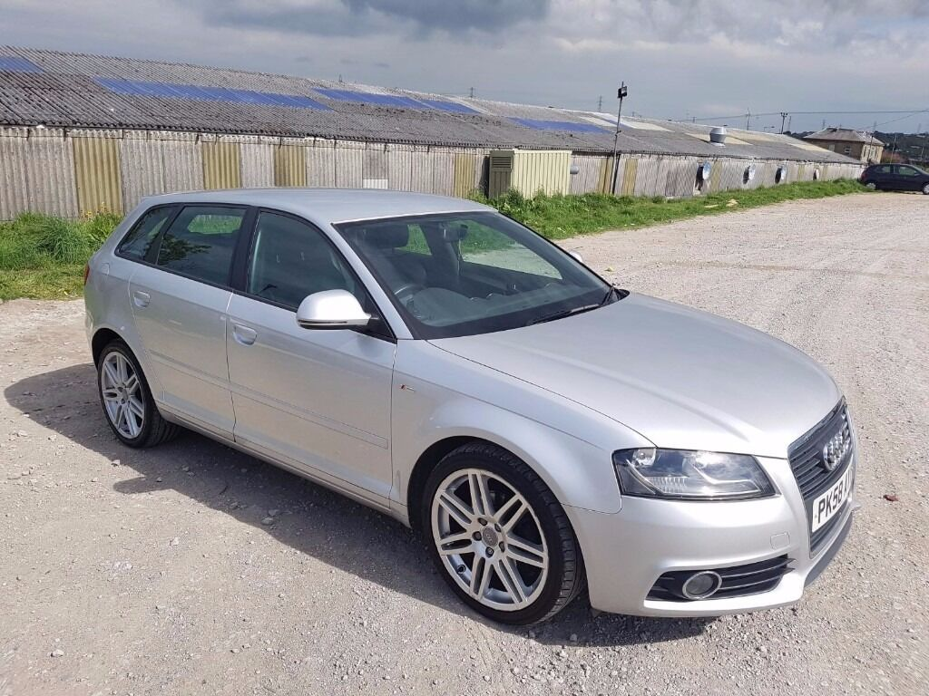 2008 audi a3 2 0 tdi s line 5 door hatchback silver 140. Black Bedroom Furniture Sets. Home Design Ideas