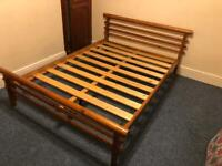 Pine double bed frame £50 delivered