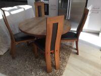 4 seater wooden dinning set
