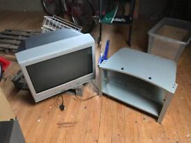 """Television with stand 26"""" Toshiba"""
