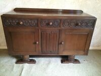 Antique wooden dining cabinet