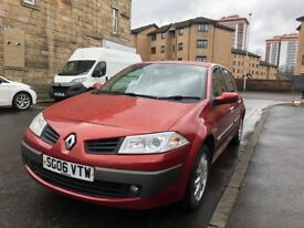 Renault Megane 2006, 1.6 petrol, 117k miles, 1 year MOT, immaculate condition, fully serviced!
