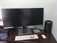 "2013 Mac Pro 3.5GHz 6-Core 24GB RAM 1TB SSD 3GB D500 + AOC 34"" UltrawideScreen"