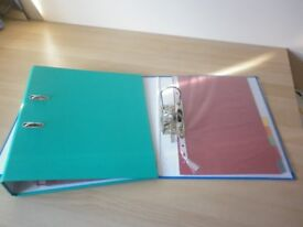 A4 LEVER ARCH FILES/RING BINDERS