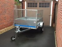 Galvanised Car Trailer as New.