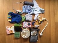 Baby feeding bundle (and a few other things incl. grobag chair harness)