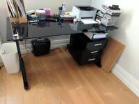 Sleek modern office desk