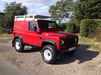 1999 land rover defender 90 TD5 hard top red overland 4x4 camper expedition