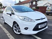 2012 FORD FIESTA 1.6 ZETEC S 3DR 118 BHP,34000 MILES ONLY,NEW MOT,1 OWNER,V5 AND NEW MOT BARGAIN.