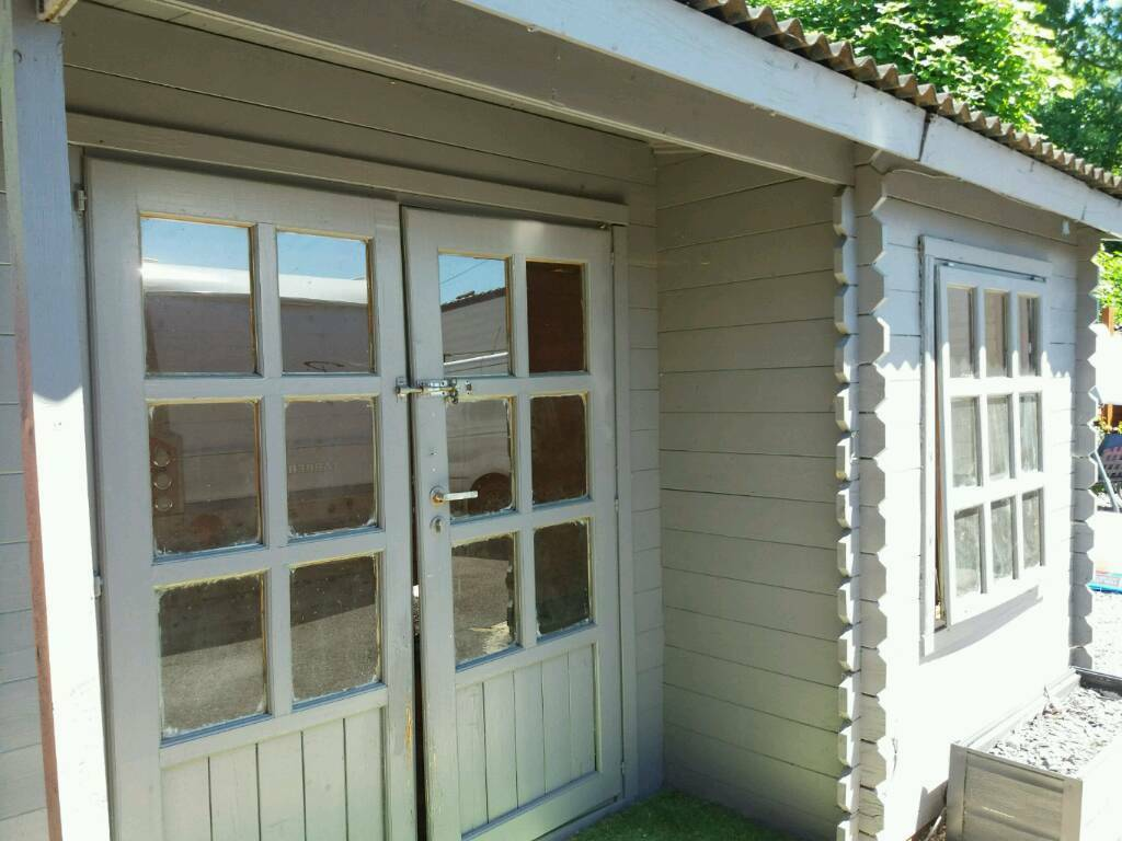 log cabin garden shed summer house
